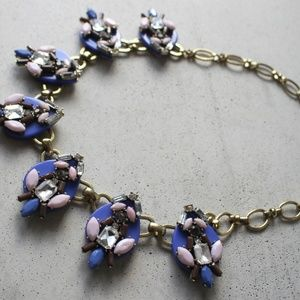 Anthropologie Periwinkle & Pink Statement Necklace